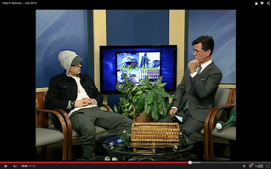 stephen colbert - eminem - only in monroe