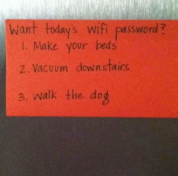 want the wifi password
